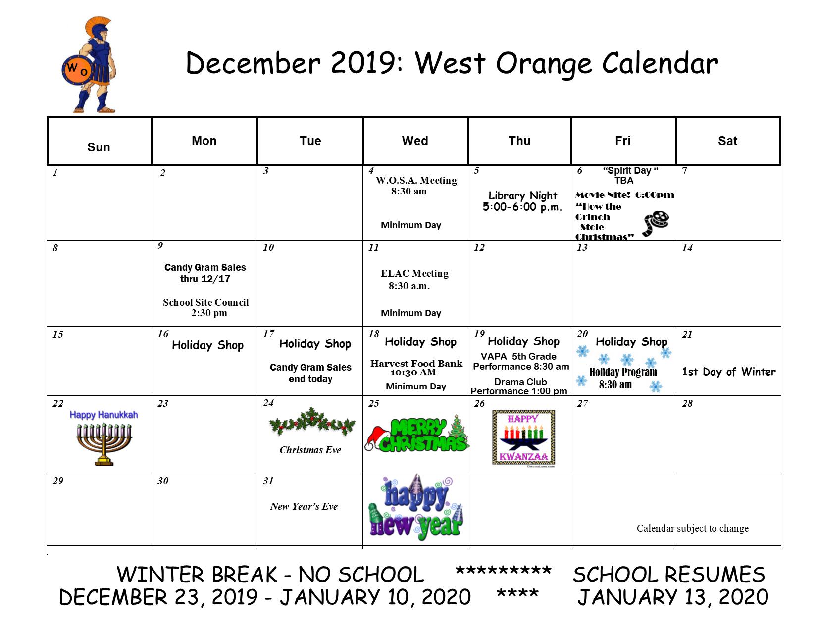 Calendars Orange Unified School District
