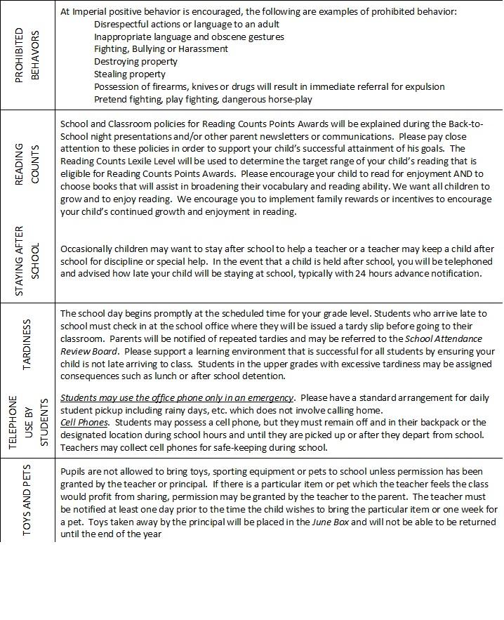 Parent Student Handbook / Policies and Procedures - Orange